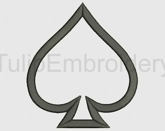 Playing Cards, Clubs, Diamonds, Hearts, Spades  Applique Embroidery Designs