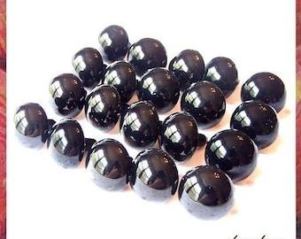 18 mm Black animal / amigurumi / plastic safety eyes - 10 PAIRS (18B10)