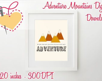 Adventure Poster Digital/Nursery/Preschool/Stickers