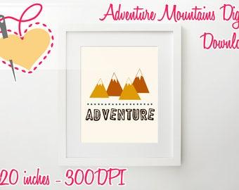 Adventure Poster Digital/Nursery/Preschool/Stickers
