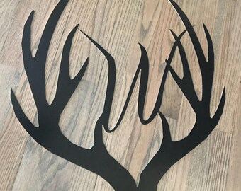 Deer Anter Initial Wall Hanging