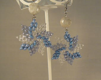 Pinwheels in Ice and Snow Earrings
