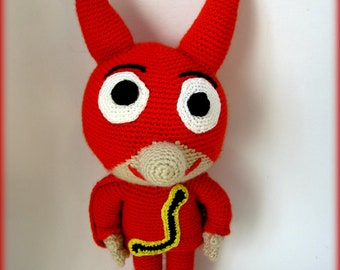 Big red knitted fox