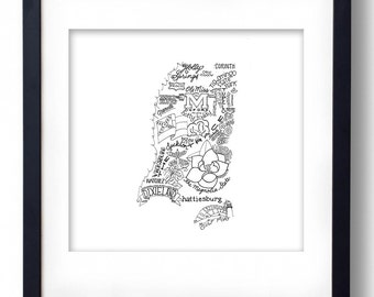 Mississippi - Hand drawn illustrations and type