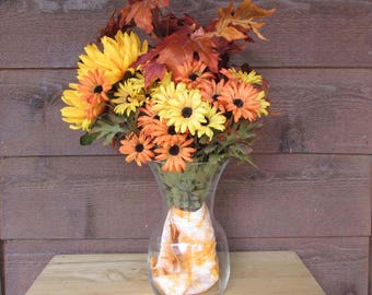 Bright Color Floral with Vase | Fall Bouquet