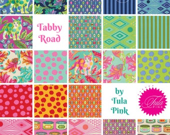 Tabby Road by Tula Pink for Free Spirit ~ Fat Quarter / Half Yard Fabric BUNDLE ~ Complete or Choose Palette