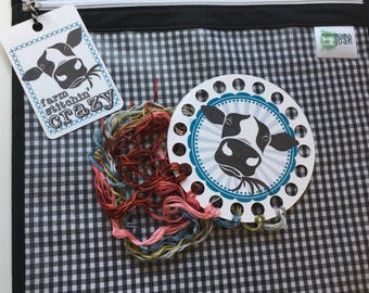 Farm Stitchin Crazy Thread Keep and Bag Tag