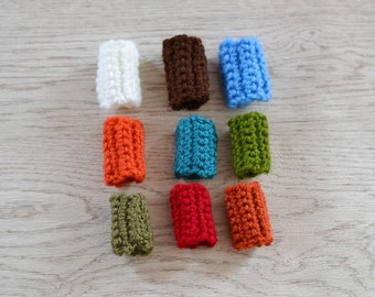 2 Crochet Dread Cuffs Sleeves, Dread Accessories, Other Colours