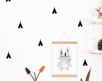 Wall decals / wall stickers 32 tipi black