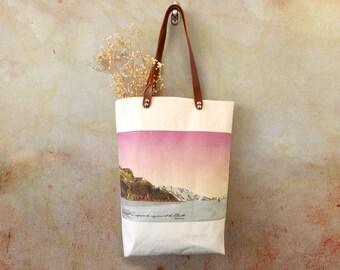 Canvas bag, canvas beach bag, summer bag, tote bag beach, summer beach bag, boho  summer canvas, beach accessories, canvas cotton leather