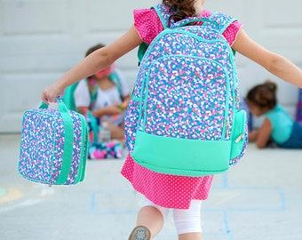 Confetti Dot Backpack and Lunch box Set, MONOGRAM INCLUDED, Personalized Backpack, Monogram Backpack, Girl Backpack, Back to School
