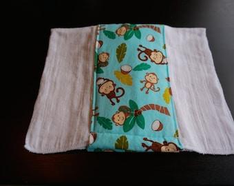 Swinging Monkeys Burp Cloth