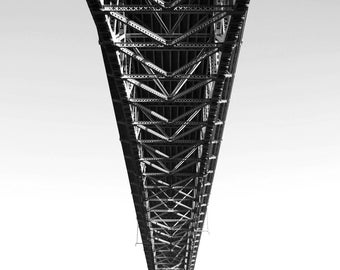 Seattle photo, Aurora bridge photo, Seattle print, Seattle canvas, black and white Seattle photography, Highway 99, bridge photo