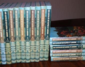 "Vintage ""New Illustrated Encyclopedia of Gardening"" Unabridged 18 Volumes Complete Set"