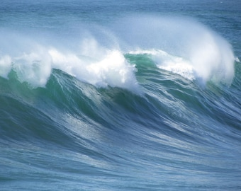 Wave Photograph / Wave Photography - Wave Wall Art / Ocean Photography - Ocean Canvas Art / Nature Photography - Beach Prints / Ocean Decor