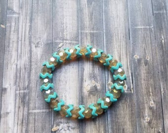 Turquoise Wavy Champagne