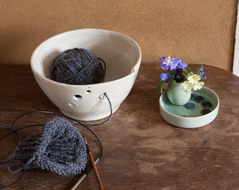 YARN BOWL No.05 - ceramic bowl - knitting accessories - one of a kind - handmade