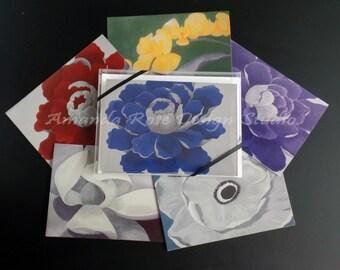 Beautiful Notecard Set of 12, Original Floral Prints, Blank Notecards, Boxed Gift Set
