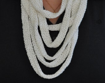 Stricklieselkette yarn white