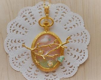 Bird Spring Time Necklace