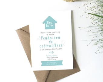 Housewarming gift, download, customize, invitation card new home announcement, moving, housewarming gift