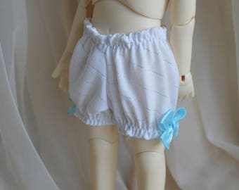 YOSD BJD 1/6 doll clothes - blue and white little girl cute lace bloomers - little princess kawaii girly clothing