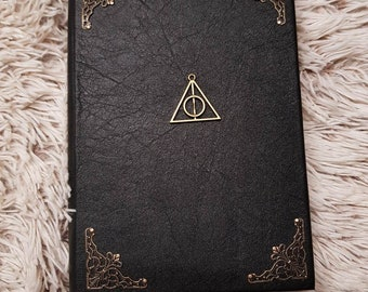 handmade leather notebool The Deathly Hallows