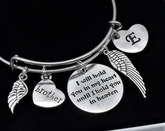 Brother bereavement | I will hold you in my heart until I hold you in heaven | loss of brother | memorial remembrance jewelry