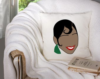 josephine baker throw pillow - josephine baker artwork - josephine baker art   - decorative throw pillow . throw pillow with words -