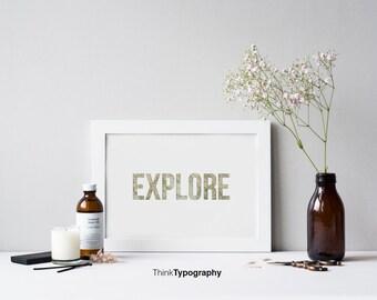 Explore,Travel, map poster, travel poster, home decor, art print, minimal, minimalist, wall art, decor, home, office, simple, clean, tourist