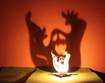 Outdoor Tea Light Holders Tea light lantern etsy halloween tea light garden lantern wooden indoor outdoor decor spirit candle holder workwithnaturefo