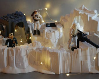 Vintage Star Wars Complete Hoth Imperial Attack Base Playset with 3 Action Figures by Kenner