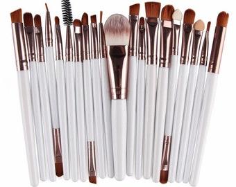 15 Piece Makeup Brush Set Style 002