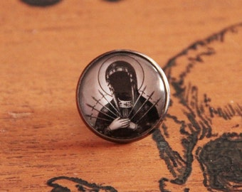 20 mm glass cabochon pin badges