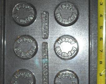 Happy Birthday Cookie chocolate mold (f1689)