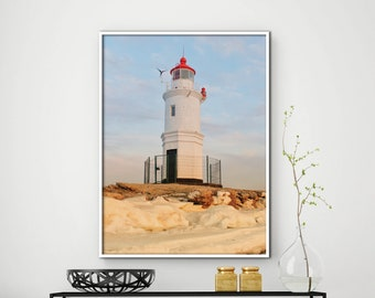 Lighthouse Decor, Lighthouse Print, Lighthouse Art, Lighthouse Wall Art,  Coastal Print,