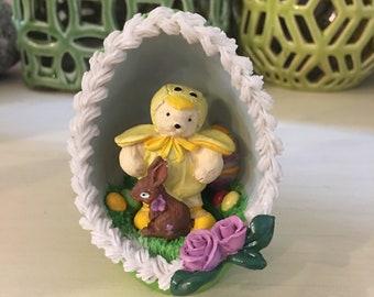 "Muffy Vanderbear ""Muffy Chick"" Vintage Ceramic Easter Teddy Bear Figurine North American Bear Company"