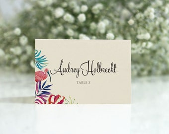 Tropical Place Card