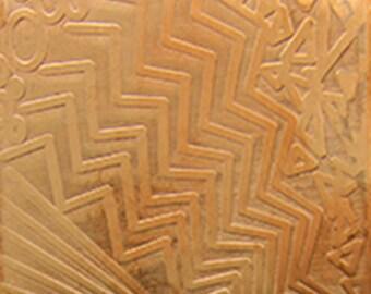 "Patterned Copper Sheet ""Multi-Pattern"" 2"" x 6"" (choose 18 thru 24ga)  (CSP38XX)"