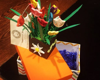 Quilling Paper Art: Morning glory flower