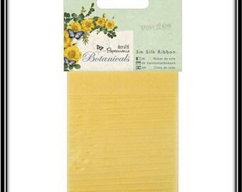 1.4 cm x 5 m yellow silk ribbon