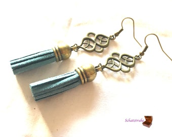 earrings tassel blue