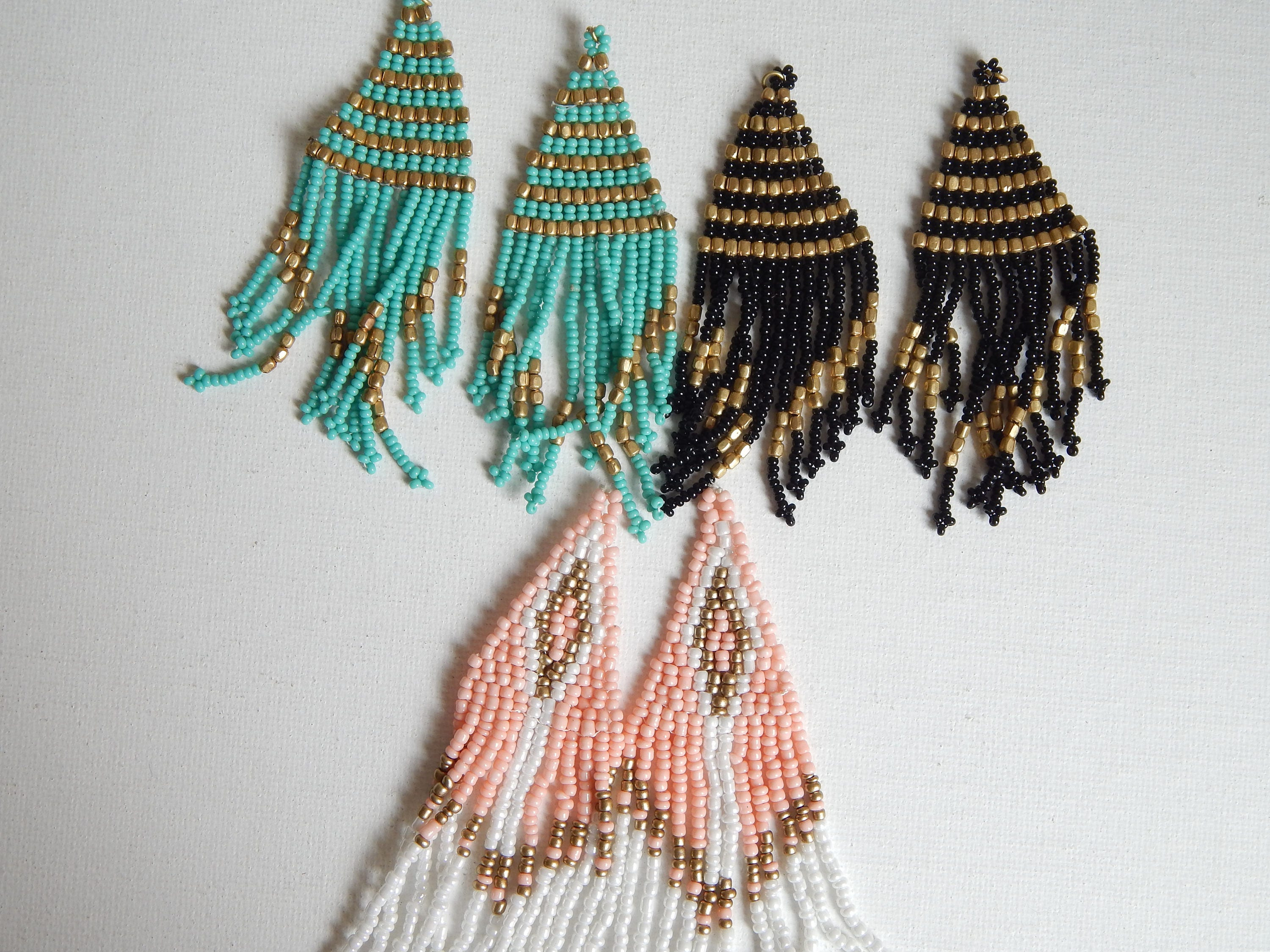 shop mexican jewelry teal fringe nomadic ant earrings