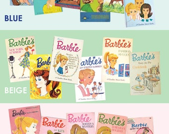 Set of three 1/6 scale Barbie books