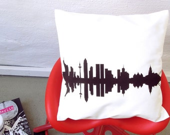 FRANKFURT City Pillowcase Throw Pillow Cushion Cover - Cotton Twill Screen Printed - 16 inch - handmade in Berlin by 44spaces