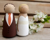 W E D D I N G  C A K E  T O P P E R Custom Wooden Bride and Groom Wedding Couple small size