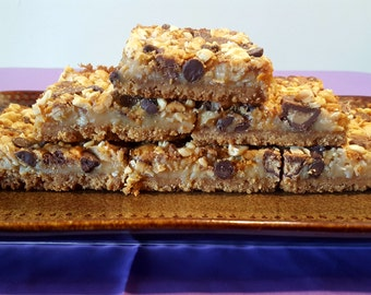 Super Peanut Butter Overload Cookie Bars