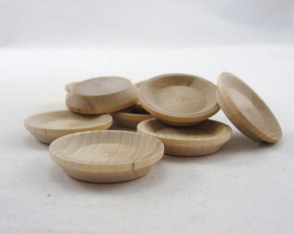 🔎zoom & Miniature wooden plate 1 1/2 small wooden plate