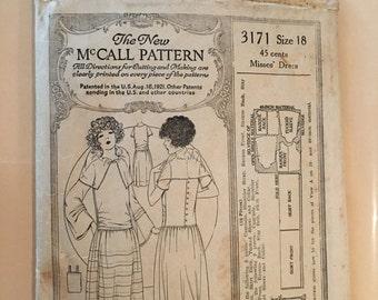 Vintage McCall dress pattern 3171