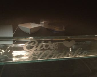 Personalized, etched glass 9 x 13 caaserole dish